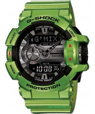 Casio GBA-400-3BER Mens G-Shock World Time Lime Green Combi Watch