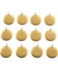 Edblad 31630145-I Charmentity Libra Matt Gold Plated Zodiac Pendant