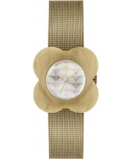 Orla Kiely OK4032 Ladies Poppy Horn Case Gold Mesh Bracelet Watch