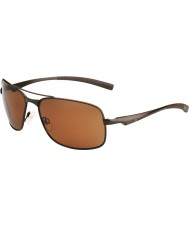 Bolle Skylar Matt Brown Polarized Sandstone Gun Sunglasses
