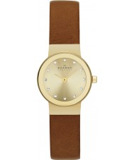 Skagen SKW2175 Ladies Klassik Saddle Brown Leather Strap Watch