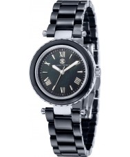Klaus Kobec KK-10006-04 Ladies Venus Steel and Black Ceramic Watch