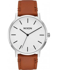 Nixon A1058-2442 Mens Porter Saddle Leather Strap Watch