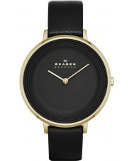 Skagen SKW2286 Ladies Ditte Black Leather Strap Watch