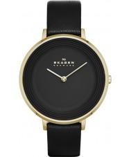 Skagen SKW2286 Ladies Ditte Black Leather Strap Watch