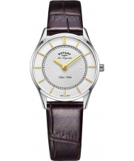 Rotary LS90800-02 Ladies Ultra Slim Brown Leather Strap Watch