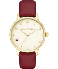 Kate Spade New York KSW1188 Ladies Metro Burgundy Leather Strap Watch