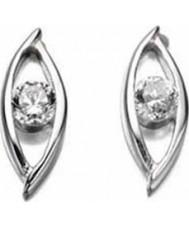Charles Conrad E4050C Ladies Marquise CZ Earrings