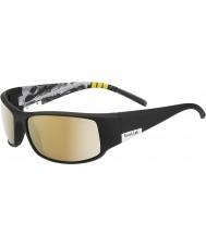 Bolle King Shiny Black Mountain Polarized AG-14 Sunglasses