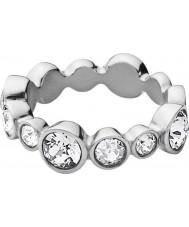 Dyrberg Kern 337033 Ladies Rebeka III Silver Steel Crystal Ring
