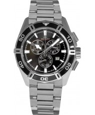 Rotary AGB90089-C-04 Mens Aquaspeed Pacific Black Silver Chronograph Watch