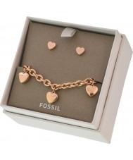 Fossil JGFTSET1037 Ladies Bracelet and Earrings Gift Set