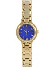 Krug Baümen 5117DL Charleston 4 Diamond Blue Dial Gold Strap