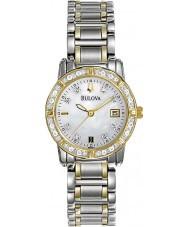 Bulova 98R107 Ladies Diamond Two Tone Steel Bracelet Watch