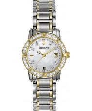 Bulova 98R107 Ladies Diamond Two Tone Steel Bracelet Watch
