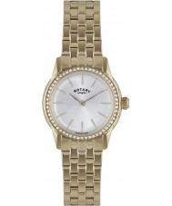 Rotary LB02573-01L Ladies Timepieces Verona Crystal Bezel Rose Gold Plated Watch