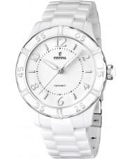 Festina F16621-1 Ladies Ceramic White Watch