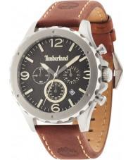 Timberland 14810JS-02 Mens Warner Dark Brown Leather Strap Watch