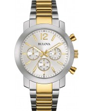 Bulova 98A145 Mens Sport Two Tone Steel Bracelet Chronograph Watch