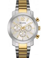 Bulova 98A145 Mens Sport Two Tone Steel Bracelet Chronograph Watch