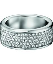 Calvin Klein KJ96BR040108 Ladies Hook Swarovski Crystal Set Ring - Size P