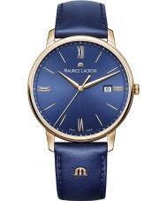 Maurice Lacroix EL1118-PVP01-411-1 Mens Eliros Blue Leather Strap Watch