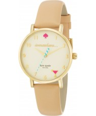 Kate Spade New York 1YRU0484 Ladies Metro Nude Vachetta Leather Strap Watch