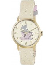 Radley RY2112 Ladies Gold Plated Case and Cream Leather Strap Watch