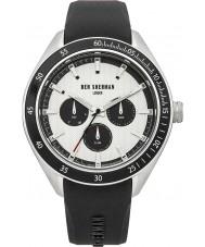 Ben Sherman WB011W Mens White and Black Silicone Strap Watch
