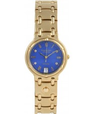 Krug-Baumen 5117DM Charleston 4 Diamond Blue Dial Gold Strap