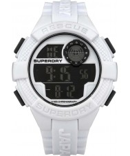 Superdry SYG193W Mens Radar Digital White Silicone Strap Watch