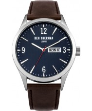 Ben Sherman WB053BR Mens Brown Leather Strap Watch