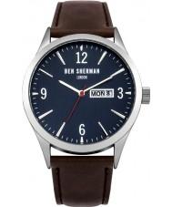 Ben Sherman WB053BR Mens Brown Leather Strap Watch