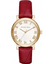 Michael Kors MK2618 Ladies Norie Burgundy Leather Strap Watch