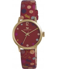 Radley Ladies Cardinal Red Dotty Dog Leather Strap Watch