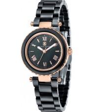 Klaus Kobec KK-10006-06 Ladies Venus Rose Gold and Black Ceramic Watch
