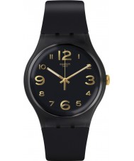Swatch SUOB138 Townhall Black Silicone Strap Watch