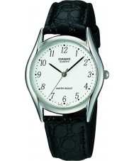 Casio MTP-1154PE-7BEF Mens Collection Black Leather Strap Watch