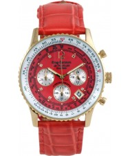 Krug Baümen 400209DS Air Traveller Red Dial Red Strap