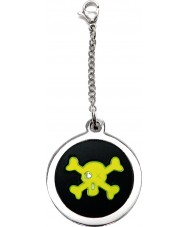 I Puppies PF-005-G Dog Steel and Green Tag For Collar Medallion