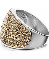 Shimla SH-085ML Ladies Stone Set Rose Gold Ring - Size Q
