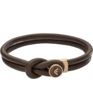 Emporio Armani EGS2213251 Mens Signature Brown Leather Bracelets