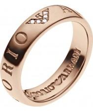Emporio Armani EG3146221-6.5 Ladies Signature Rose Gold Slim Ring - Size M.5