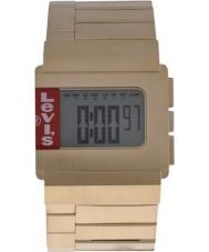 Levis L017GU-6 Unisex Digital Gold Plated Steel Bracelet Chronograph Watch