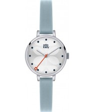 Orla Kiely OK2015 Ladies Ivy Sky Blue Leather Strap Watch