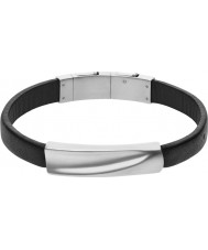Skagen SKJM0012040 Mens Vinther Black Leather Bracelet