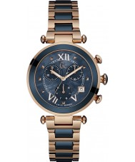 Gc Y05009M7 Lady Chic Rose Gold Plated Chronograph Watch