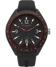 Ben Sherman WB012B Mens All Black Silicone Strap Watch