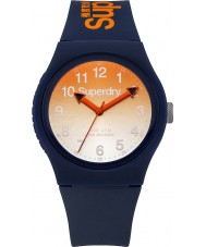 Superdry SYG198UO Ladies Urban Navy Silicone Strap Watch