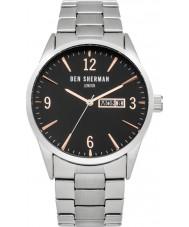 Ben Sherman WB053BSM Mens Silver Steel Bracelet Watch